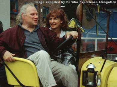 Colin Baker & Caroline John at one of the 'Day With The Doctor'  Events