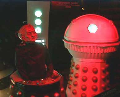 Davros with the Emperor  Dalek on display in 2000